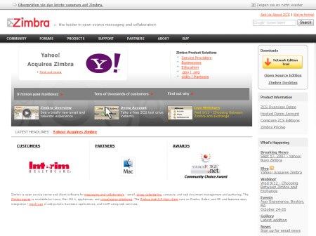 Zimbra - Anbieter kommerzieller Webmail-Lösungen