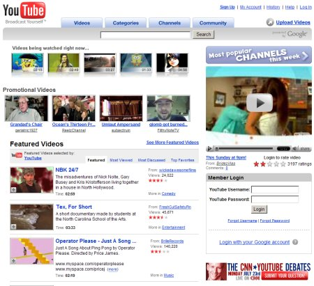 Youtube im neuen Design