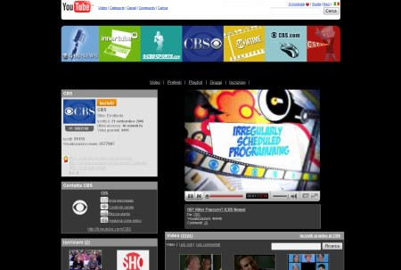 CBS Channel auf YouTube Italien