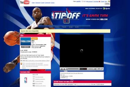 NBA Channel auf Youtube Italien