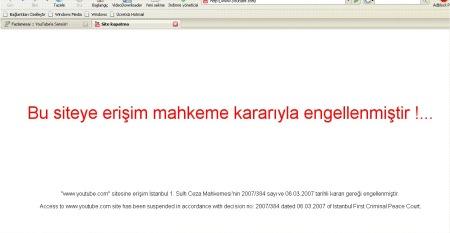 Youtube in Türkei gesperrt - Screenshot was türkische Nutzer aktuell sehen, beim Zugriff auf Youtube